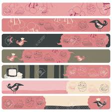 free banner backgrounds cute banner backgrounds set with confectionery theme royalty free