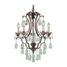 feiss f1882 5brb maison de ville 5 light 16 inch british bronze mini chandelier ceiling light