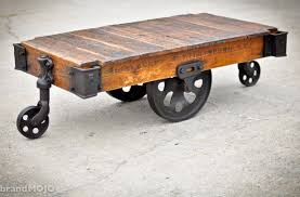 coffee carts industrial and industrial bench lineberry factory cart coffee table industrial
