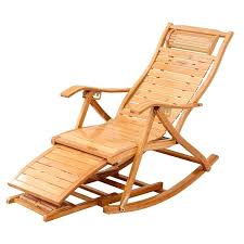 modern bamboo rocking chair recliner with ottoman indoor outdoor lounge deck furniture reclining rocker chaise from
