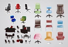 free office furniture. Office Furniture Vector Material Free E