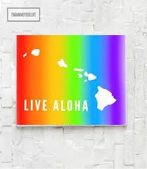 live aloha hawaii digital print instant