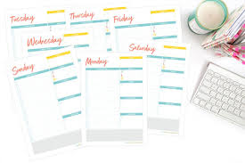 Home Organisation Daily Planner Pages The Organised Housewife