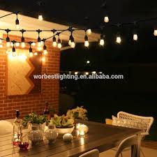 Pergola String Lights Worbest Outdoor String Lights 48ft With Led Bulbs S14 Cri80 Heavy Duty Garden Hanging Market Patio Cafe Pergola Rope Buy Commercial String