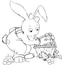 Coniglio Disegno Da Pulcino Di Con Per Bambini Colorare Pasqua E2idye9wh