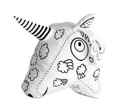 Unicorno Da Colorare Con 6 Pennarelli Lavabili Labeltour Mukako