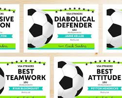 soccer awards templates editable soccer award certificates instant download printable