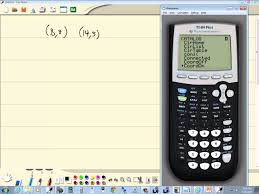 technology in college algebra linear equations finding slope ti 84 plus you