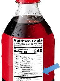 Coca Cola Nutrition Chart