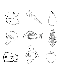 Food Coloring Pages Printable Colouring Pictures Healthy Foo