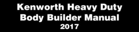 kenworth heavy duty body builder manual
