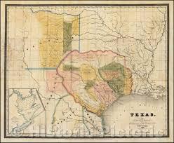 Amazon.com: Historic Map - Texas, 1833, David Hugh Burr - Vintage ...