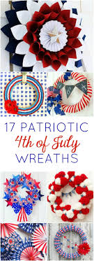 patriotic wreaths for front doorRed Wreath and Blue 17 Inspiring DIY Patriotic Wreaths  Design