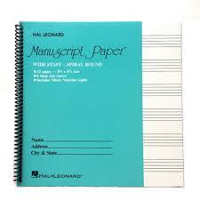 Wide Staff Wirebound 6 Stave Manuscript Paper