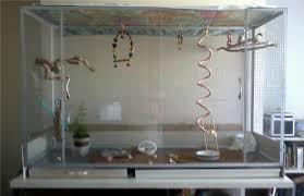 acrylic corner bird cages
