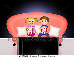 boy watching tv clipart. drawing - children watching television. fotosearch search clipart, illustration, fine art prints boy tv clipart