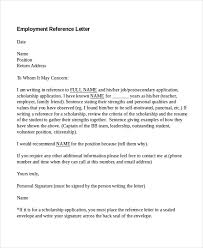 reference letter from employer 10 employment reference letter templates free sample example inside
