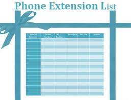 Phone Extension List Template Excel Office Phone Extension List Template