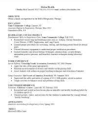 Respiratory Therapist Student Resume Entry Level Respiratory Therapist Resume Successmaker Co