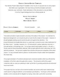 Weekly Project Status Report Sample Sample Project Status Report Template 10 Free Word Pdf Documents