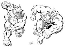 Beebop And Rocksteady By Ninja Turtles