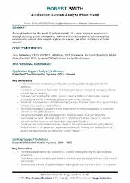 Desktop Support Resume Sample Magnificent Application Analyst Resume Desktop Support Analyst Resume