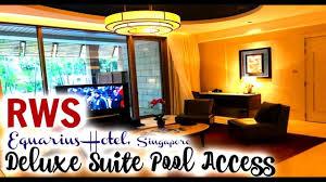 equarius hotela deluxe room. Equarius Hotel [Deluxe Suite Pool Access] - Resorts World Sentosa, Singapore Hotela Deluxe Room