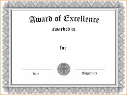 Certificate Of Excellence Template Word 100 certificate of award template word catering resume 38