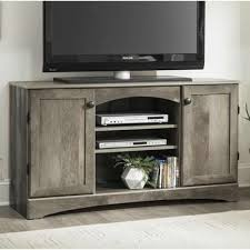 gambrel 54 247 54 entertainment console gray tv stands media consoles and credenzas