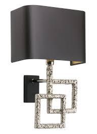 modern luxury wall sconce design with black shade