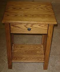 oak end table with drawer custom made new mission style solid oak wood bedside bedroom living room end table light oak lamp table with drawer