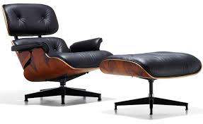 furniture eames lounge chair with black leather and palisander wood