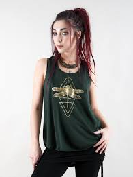 """<b>Geometric Dragonfly</b>"" tank top"