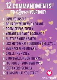 Love Your Body Quotes Classy Fitness Quotes 48 Commandments To LOVE YOUR BODY Healthy