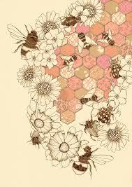 A Quilt Of Honey Bees графика животный мир в 2019 г мед пчелы