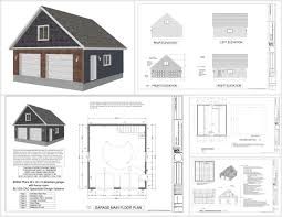 image of detached garage with bonus room plans design