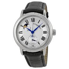 raymond weil maestro automatic moon phase leather mens watch 2839 zoom