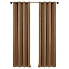 Hidden Tab Curtains Home Decorators Collection Gray Faux Silk Lined Back Tab Curtain