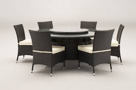 dining chairs brown. Windsor 1.7 Metre Round Brown Rattan Dining Table And 6 Chairs Set