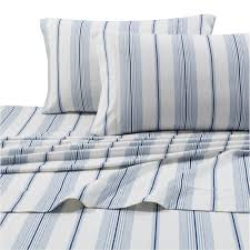 blue and white striped sheets. Brilliant White Printed Flannel 4 Piece Stripe Sheet Set By Tribeca Living  Light Blue   Hayneedle In And White Striped Sheets K