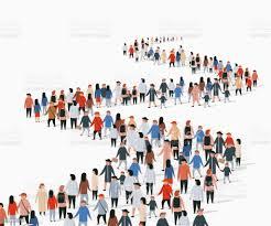 行列に並ぶビュイスの群衆人々は群がる - イラストレーションのベクターアート素材や画像を多数ご用意 - iStock