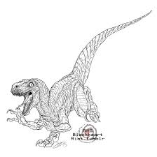 Small Picture Jurassic World Countdown Velociraptor by BlackHeartSpiral on
