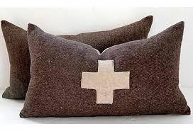 wool throw pillows. Plain Pillows Swiss Army Wool Blanket Pillows Pair  Inside Throw Pillows Vintage Tables U0026 Chairs Omero Home
