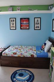 ... Drop Dead Gorgeous Pictures Of Hockey Themed Boy Bedroom Decoration :  Charming Ideas For Hockey Themed ...