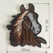 diy embroidery appliques horse embroidered iron on patches for clothing