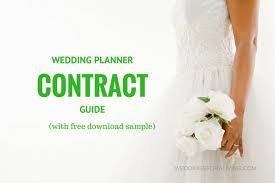 wedding planner contract guide event planning contract templates