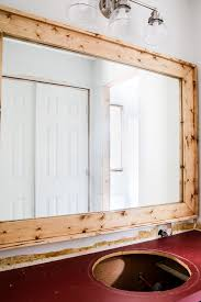 diy mirror frame frame your bathroom