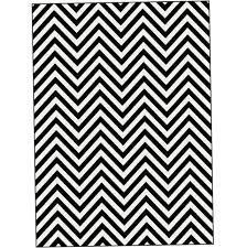 black and white chevron rug 5x7