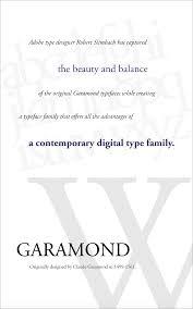 Garamond Designer Type Hierarchy Communication Design Fundamentals S18