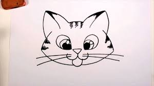 easy cat face drawing. Plain Cat With Easy Cat Face Drawing W